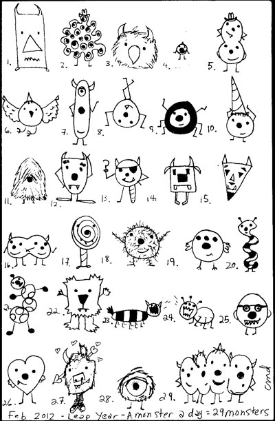 Simple Monster Doodles Archives Kid Can Doodle