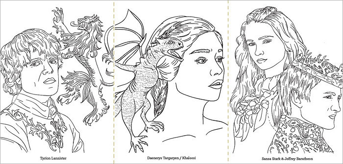 Images By Team Art Game Of Thrones A Coloring