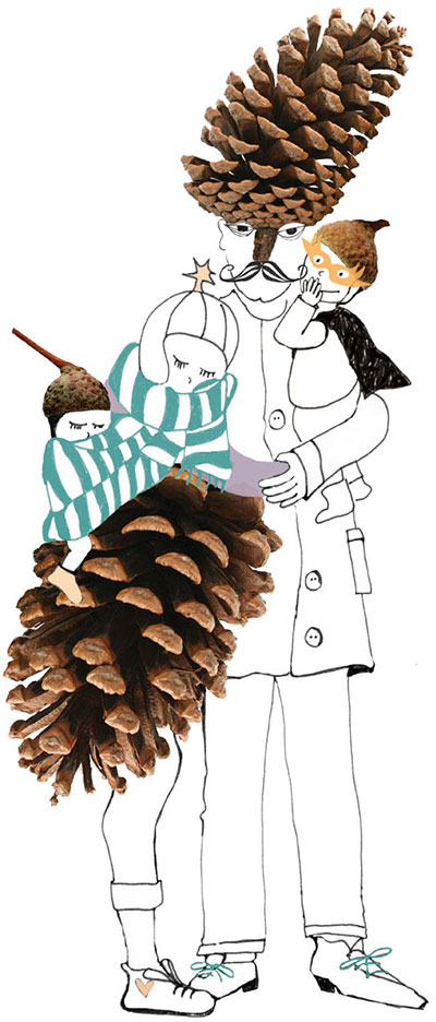 Claudi Kessels pinecone familie
