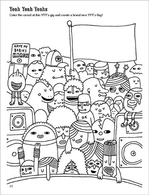 Art By Andy J Miller The Indie Rock Coloring Book