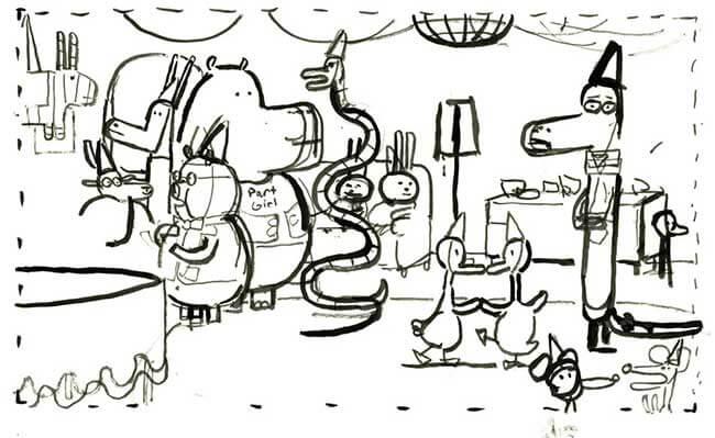 party sketch