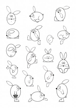 Rabbits with Egg Shape
