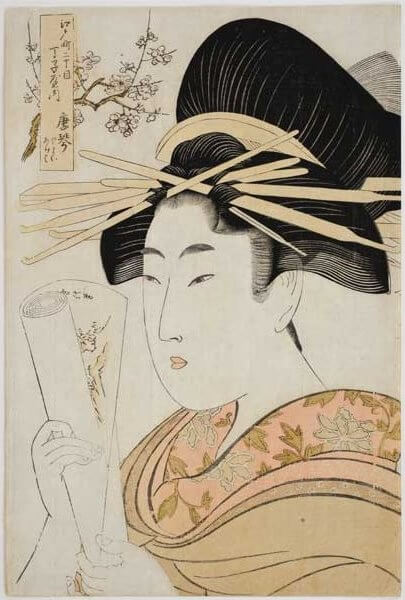 'Karagoto_of_the_Brothel_House_Chojiya'_by_Utamaro,_Honolulu_Museum_of_Art
