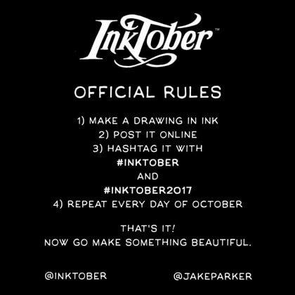 inktober rules