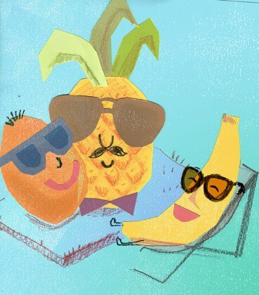 fruits in sunnies