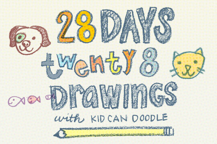 28 days drawings banner