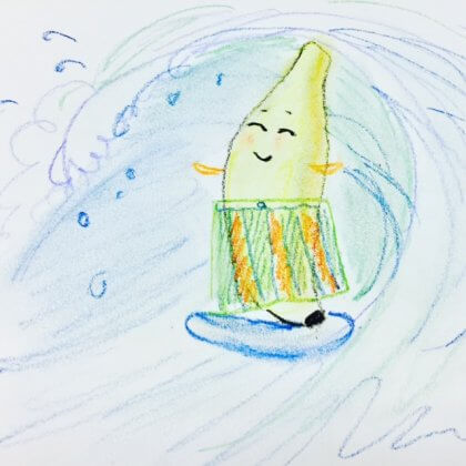 surfing banana